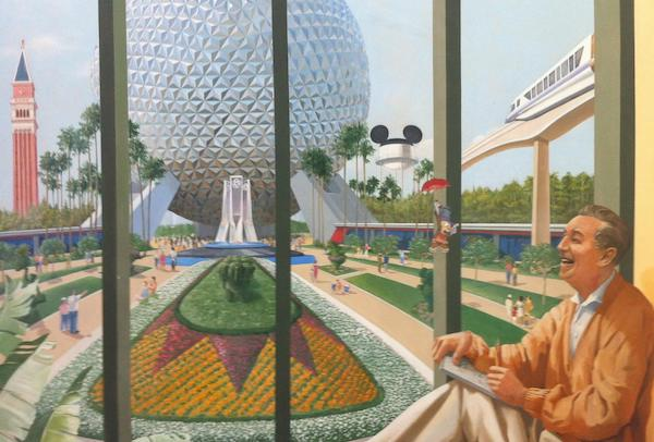 Walt Disney World Resort mural from Disney's Casting office
