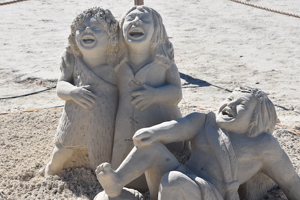 sand sculpture at the 2020 Sanding Ovations in Treasure Island Florida