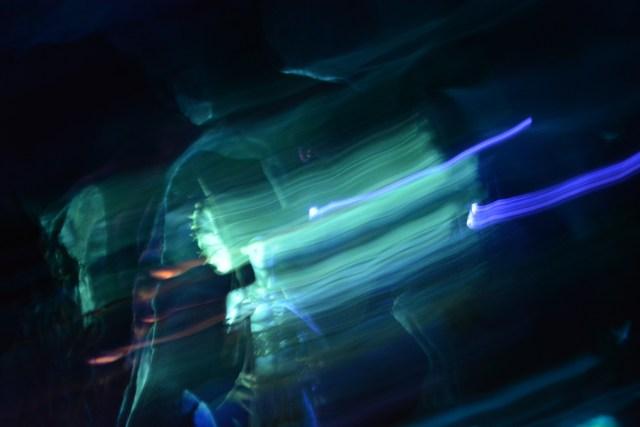 Swirling lights on the Na'vi River Journey at Disney's Animal Kingdom