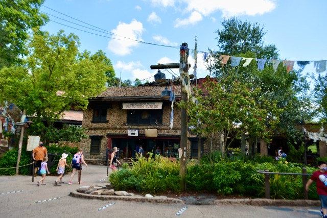 Empty entrance to Expedition Everest at Disney's Animal Kingdom