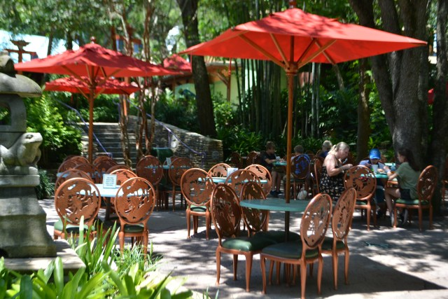 physically distant outdoor dining at Animal Kingdom