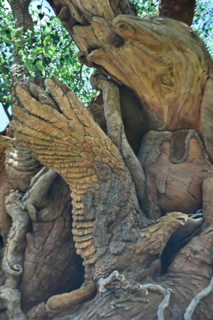 Seahorse and Eagle carvings in the Tree of Life at Disney's Animal Kingdom