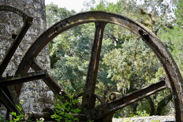 Gears at the Yulee Sugar Mill ruins near Homosassa Florida
