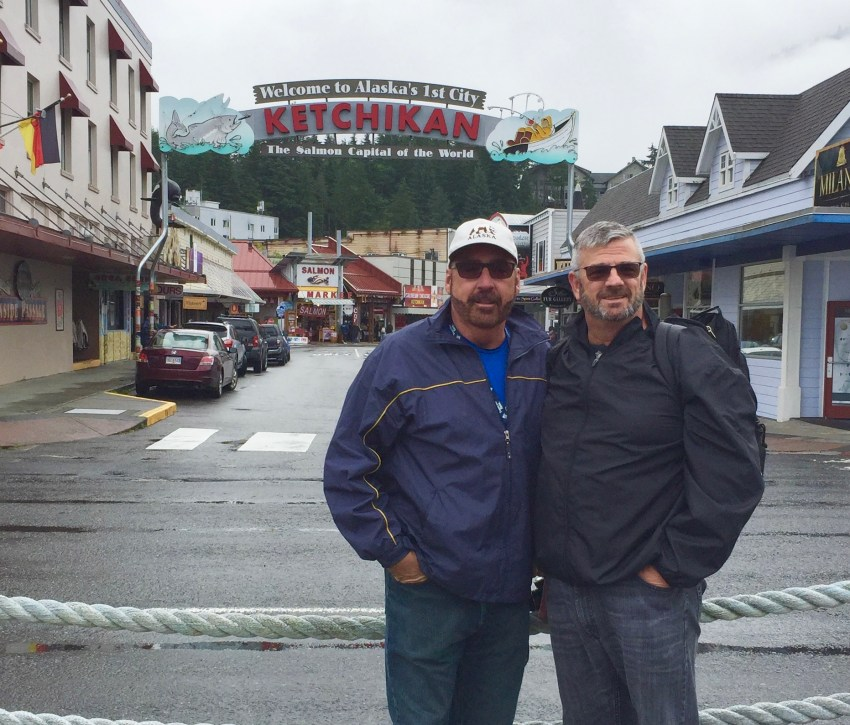 Mark and Chuck in Ketchikan Alaska