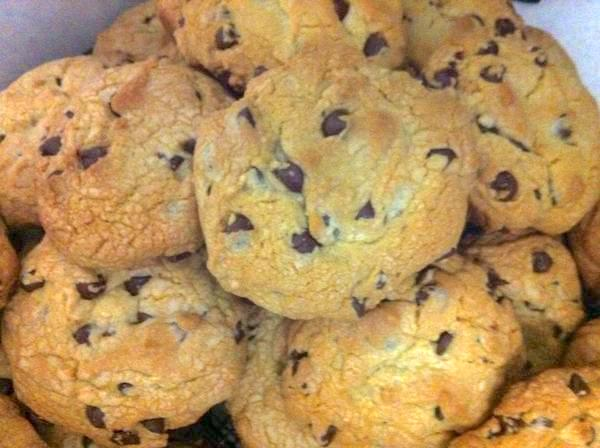 a pile of amazing Monster Chocolate Chip Cookies