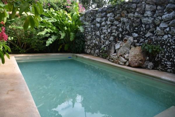 swimming pool in our backyard