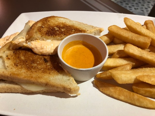Buffalo chicken Grilled Cheese Sandwich at ABC Commissary at Walt Disney World's Hollywood Studios