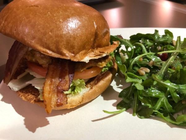 Chicken Club Sandwich with Arugula Farro Salad at ABC Commissary in Disney's Hollywood Studios at Walt Disney World