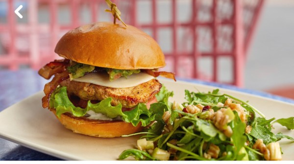 Photo of the Chicken Club Sandwich at ABC Commissary in Hollywood Studios from the Walt Disney website