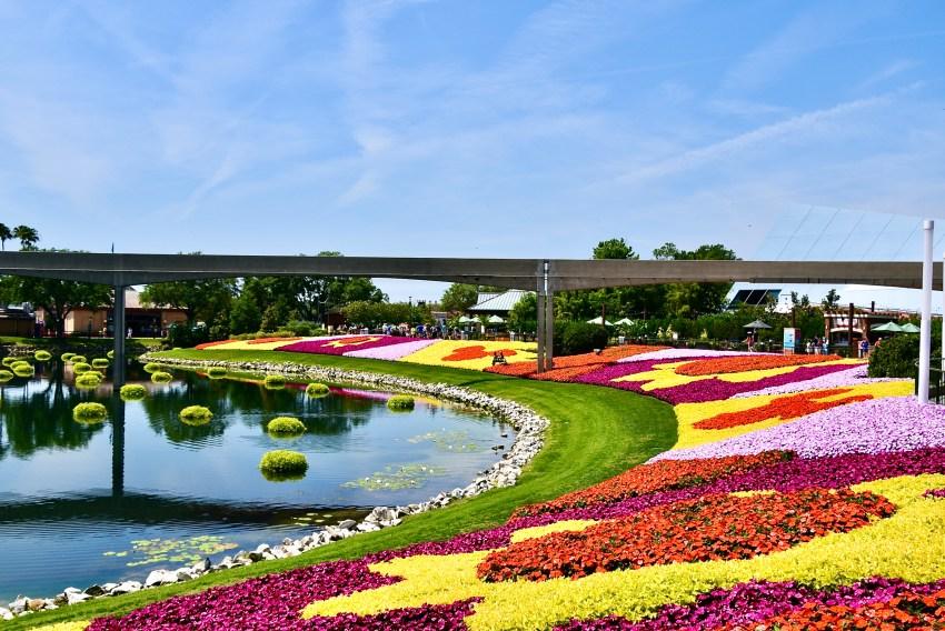 flower gardens at Walt Disney World