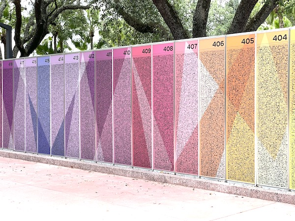 new brightly colored Leave A Legacy walls moved to just outside the touch points at Walt Disney World's EPCOT