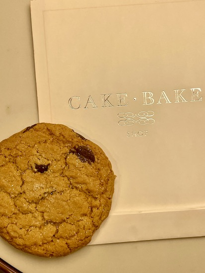 A delicious Chocolate Chip Cookie with Fleur de Sal and some glitter