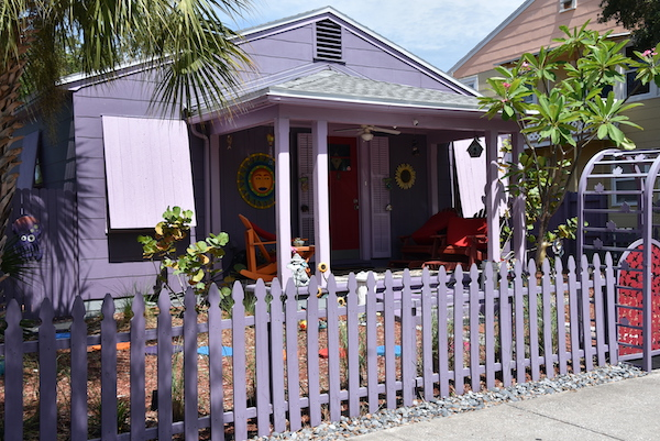 colorful bungalow in Gulfport Florida