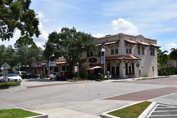 historic Spanish styled building in Gulfport Florida