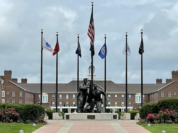 The Veterans Memorial Freedom Circle in Carmel Indiana