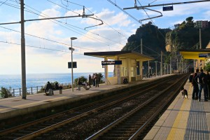 Train station in Corniglia, Cinque Terre, Italy