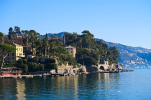 The boardwalk to Portofino,Italy