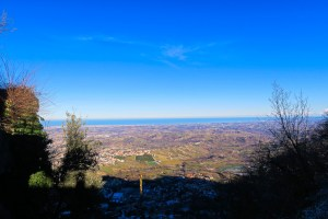 View atop San Marino, out to the sea