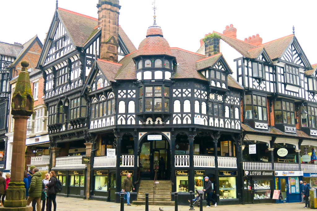 Tudor Buildings in Chester, England