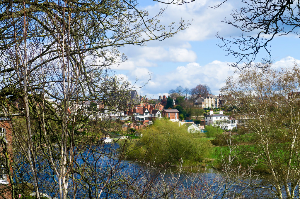 View of Chester from Grosvenor Park