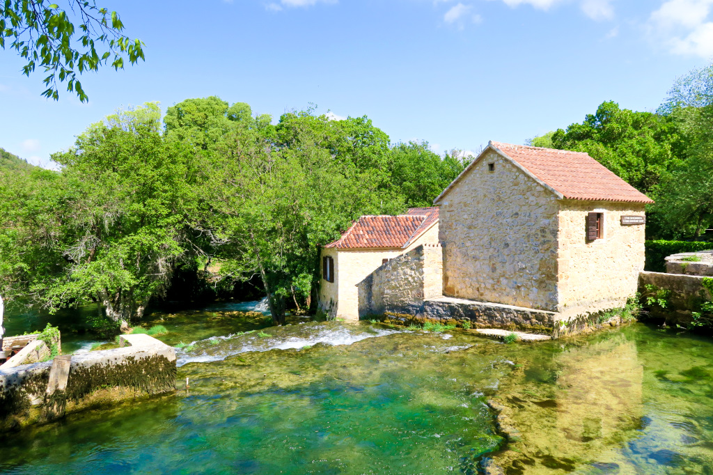 The Mill at the end of the circular route through Krka