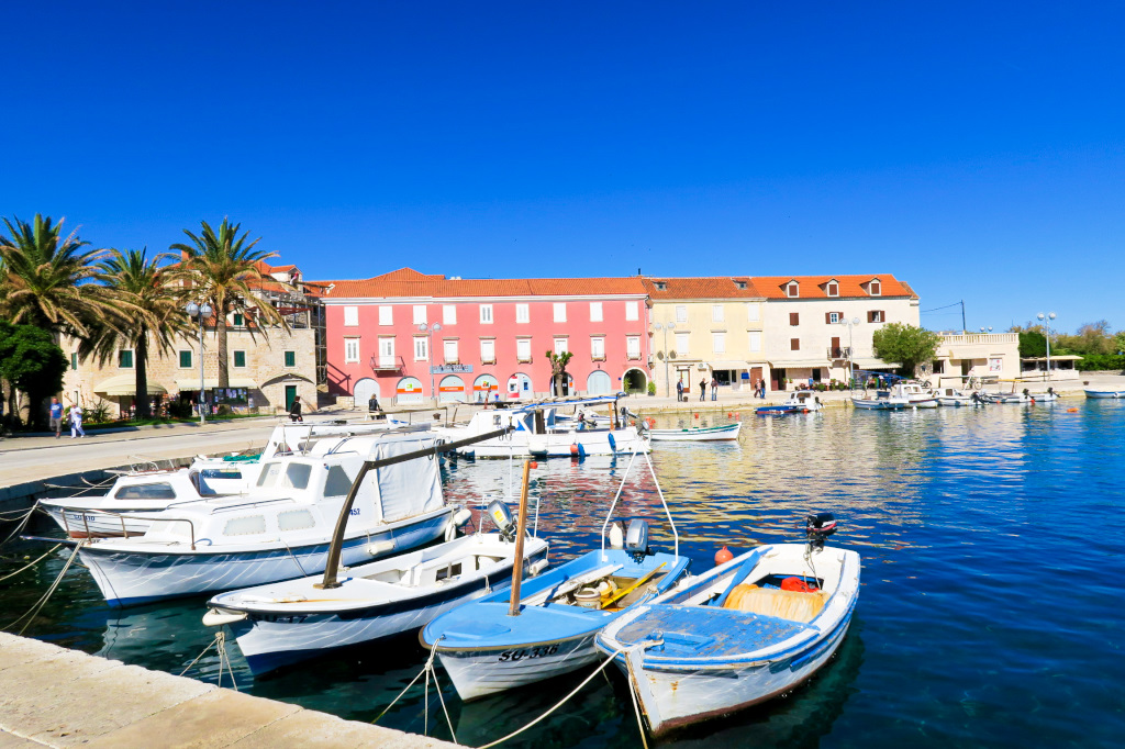 The Harbor in Supetar, Brac