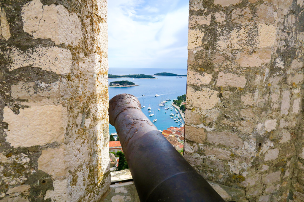 From the Castle Turrets above Hvar Town
