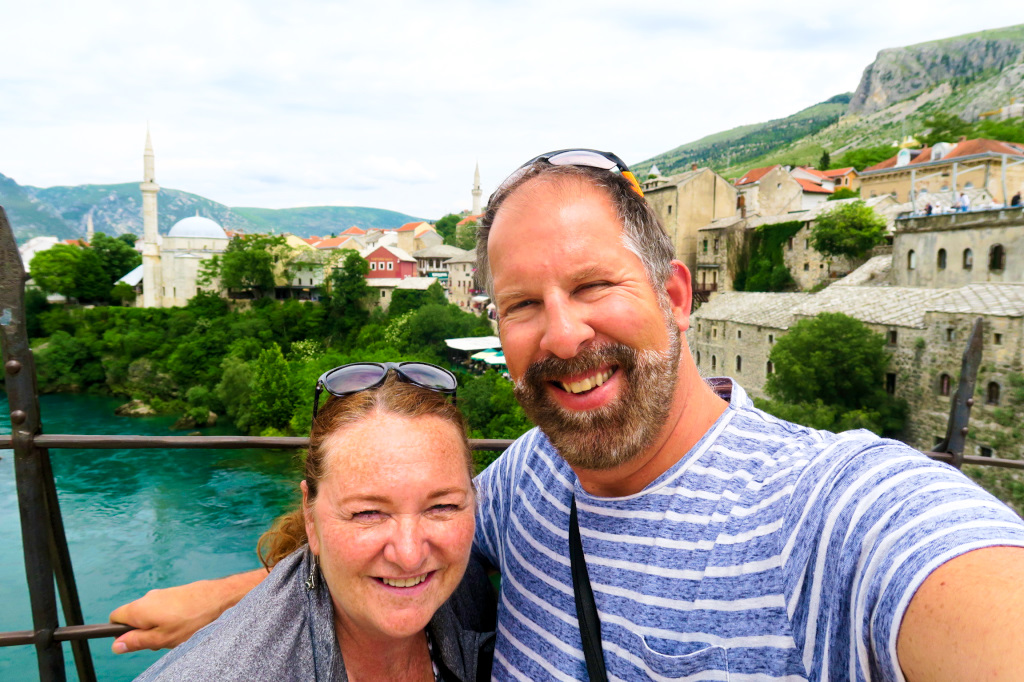 Mark and Janet in Mostar