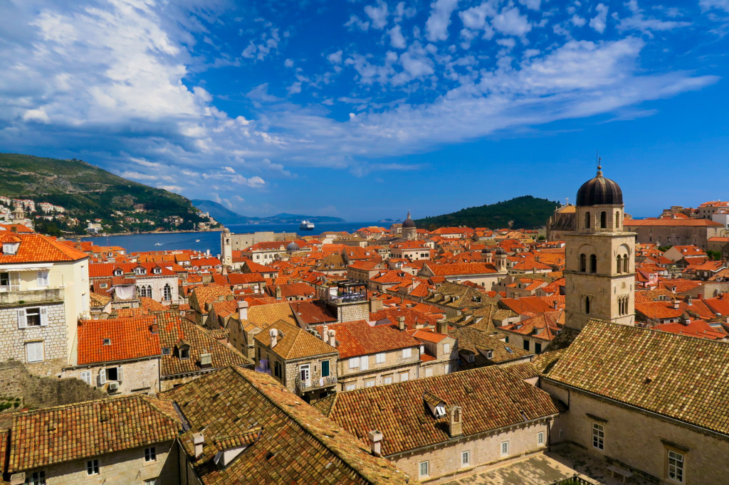 looking over Dubrovnik from the wall