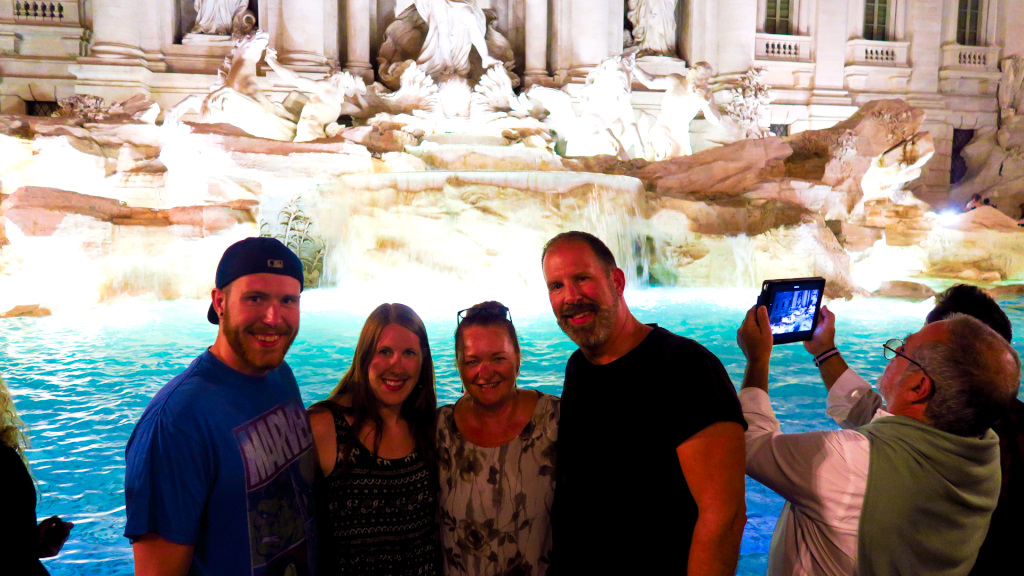 At the Trevi Fontain in Rome