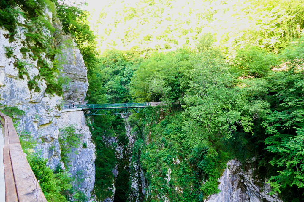 Devils Bridge in the Tolmin Gorge