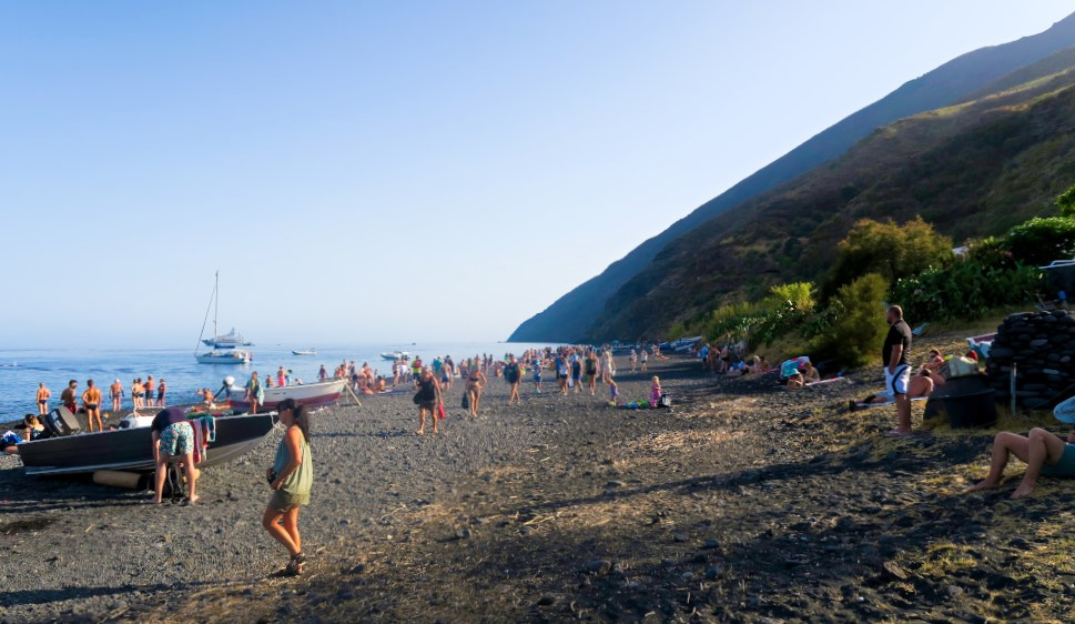 The Black Sand Beach of Stromboli
