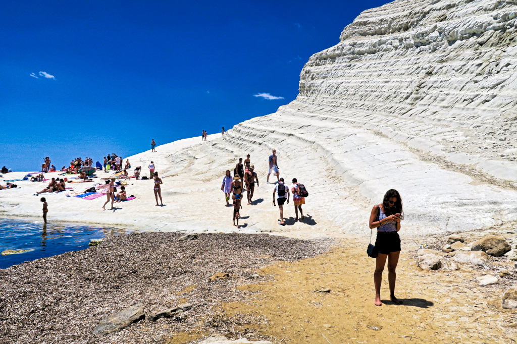 The Beach at Scala dei Turchi