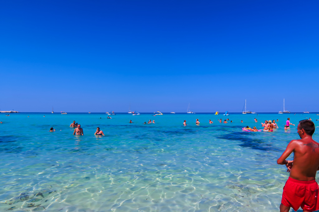 The warm waters at San Vito