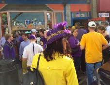 Purple and gold Tigers I see.