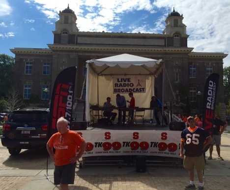 The Syracuse radio network broadcasts its pre-game show.