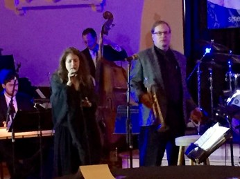 Daughter Lindsey sings, dad Rick directs and plays trumpet in the top floor ballroom.