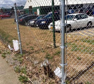 Ugly fence line.