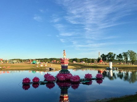 Reflecting pond.