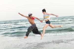 dance on beach