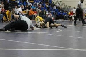 Josh wrestling HS