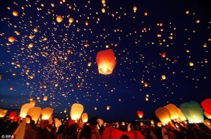 chinese wish lanterns