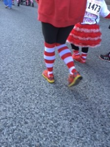 red shoe socks