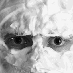 Picture of shaving foam covered face