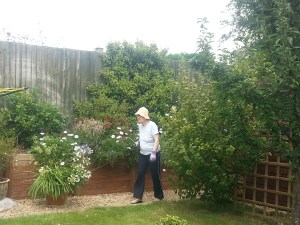 Mum in the garden