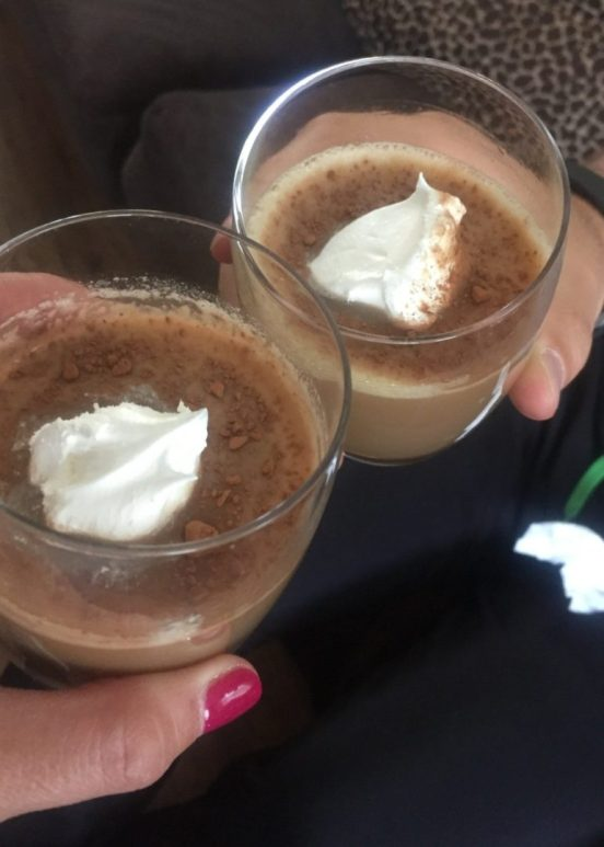 Pumpkin Pie Martini (Wife has a hard time drinking from martini glasses, lol)