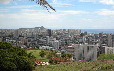 Waikiki & Diamond Head from Punchbowl Crater, Honolulu