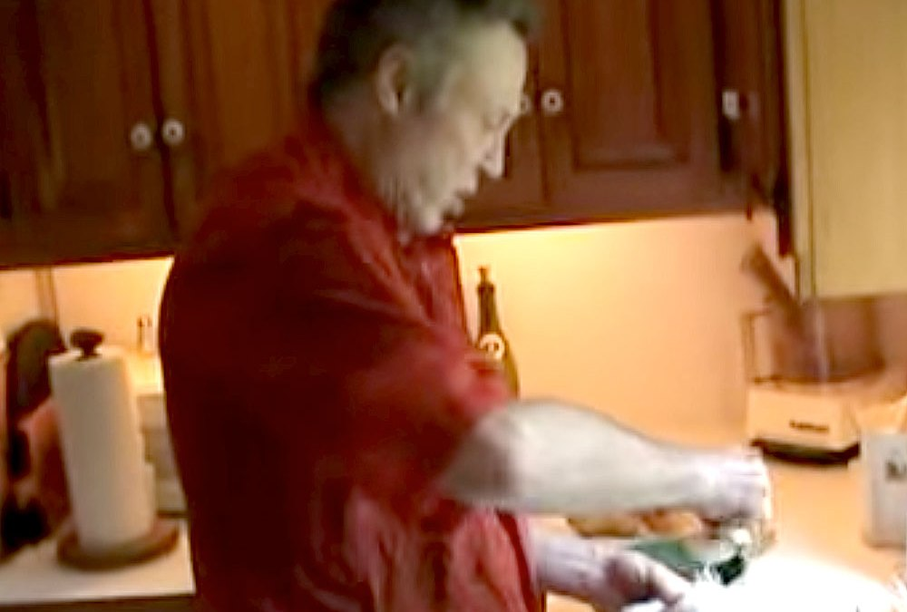 Christopher Walken cooking Chicken with Pears