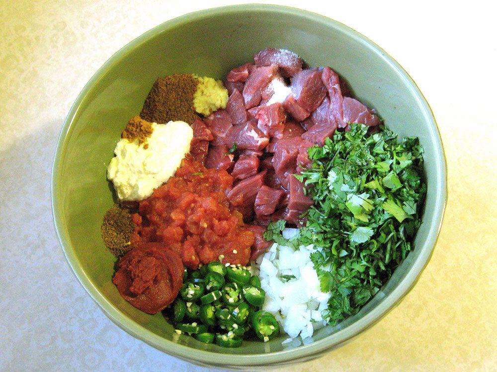 Madhur Jaffrey's Smothered Lamb recipe: ingredients
