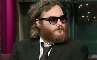 Joaquin Phoenix on 'Late Show with David Letterman'